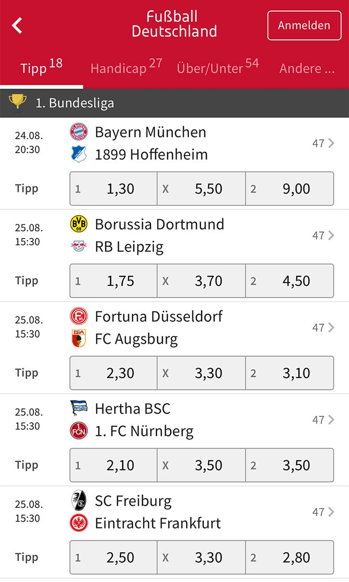 Tipico Sportwetten App Android