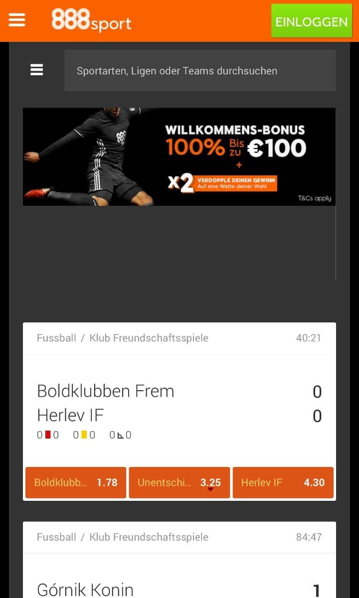 888Sport App Sportwetten