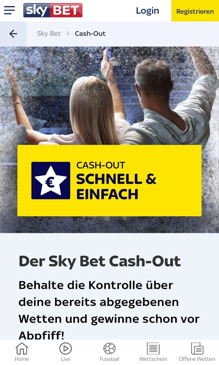 Sky Bet Cash Out