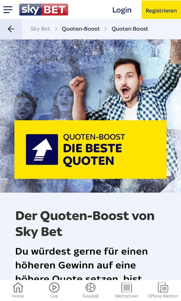 Sky Bet Quotenboost